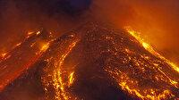 Yeniden faaliyete geçti: Bir kilometre yüksekliğe lav püskürttü