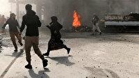 Tel Rıfat'ta yuvalanan YPG/PKK'lı teröristler Afrin'e roketle saldırdı