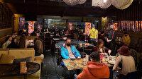 Şişli'de kısıtlama sırasında bir restorana yapılan baskın anı kamerada