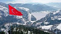Kocaeli'deki Yuvacık Barajı'nda kış güzelliği