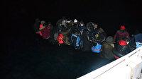 Yunanistan'ın Türk kara sularına ittiği 36 kaçak göçmen kurtarıldı