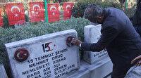 """Ömer Çelik'ten mezar taşları kırılan ikiz şehitlerin babasına """"saldırganlar yakalanacak"""" sözü"""