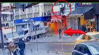 İstanbul'da akılalmaz olay: Otelin penceresinden, yoldan geçen vatandaşın üzerine düştü