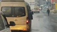 Arnavutköy'de tıklım tıklım dolu olan minibüs 'Pes' dedirtti