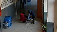 Okula giren 3 çocuk yardım kutusundaki paraları çalıp pencereden kaçtı