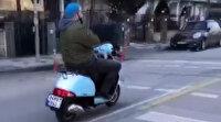 Kadıköy'de motosikletle ölümüne yolculuk kamerada