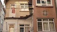 İstanbul Zeytinburnu'nda 3 katlı binanın ikinci katındaki balkon çöktü
