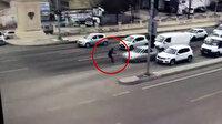 Şüpheli sürücü, kendisini durdurmak isteyen polise çarparak yaraladı