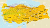 Türkiye, Avrupa'da en fazla iç hat uçuşu yapılan 2. ülke oldu