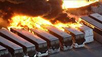 Kaliforniya'da korkutan yangın: Otobüsler alev topuna döndü