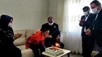 Şehit polis memuru Hakan Akdere'nin oğlu Eymen'e doğum günü sürprizi