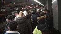 Yenikapı metro hattında arıza: İstasyonlarda yoğun kalabalıklar oluştu