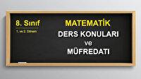 8. Sınıf 2. Dönem Matematik Ders Konuları