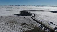 Karla kaplı araziye kurdu: 900 evin elektriğini karşılayacak