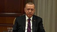 Cumhurbaşkanı Erdoğan, Macron ile video konferans görüşmesi gerçekleştirdi