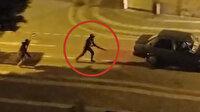Antalya'da sokak ortasındaki silahlı çatışma anı kamerada