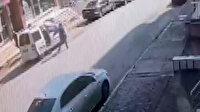 Ümraniye'de otomobildekilere silahlı saldırı kamerda