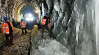 Demir yolu tünellerinde buz temizliği: Yılın 5 ayı buzlu