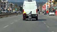 Antalya'da patenci gençlerin tehlikeli yolculuğu