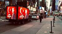 Cumhurbaşkanı Erdoğan sevgisi Times Meydanı'nda: Love Erdogan