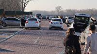 Edirne'de tepki çeken görüntüler: Yüzlerce kişi polisi görünce kaçmak için etrafa dağıldı