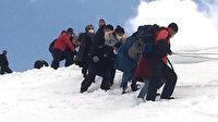 Kahramanmaraş'ta dağda mahsur kalanların yardımına JAK timi yetişti