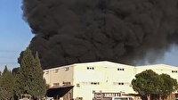 Denizli'de tekstil fabrikasında korkutan yangın: Kara dumanlar gökyüzünü kapladı