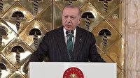 Cumhurbaşkanı Erdoğan: Milletten aldığı vekaleti terör örgütüne peşkeş çekenler İstiklal Marşı'ndan rahatsız