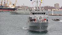 Türk savaş gemileri Ukrayna'nın Odessa limanına demir attı