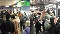 Vaka sayılarının arttığı İstanbul metrolarında endişelendiren görüntü