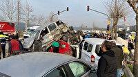 Bursa-Ankara yolunda zincirleme kaza: Freni boşalan TIR çok sayıda araca çarptı