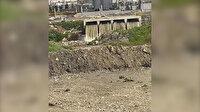 Ataköy İleri Biyolojik Arıtma Tesisi'nden Ayamama Deresi'ne dökülen atık su kamerada