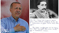 Sultan Abdülhamid'in torunundan Cumhurbaşkanı Erdoğan'a teşekkür mektubu: Bizim için onur verici
