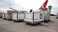 UNICEF'in koronavirüs aşılarını Turkish Cargo taşıdı