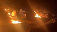 Cerablus'taki benzin istasyonu balistik füzelerle vuruldu