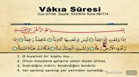 Vakıa Suresi oku ve dinle! Vakıa Suresi Arapça Yazılışı ile Türkçe Okunuşu, Duası ve Meali