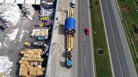 147 tonluk yük 90 tekerlekli TIR'la Hatay'dan Mersin'e 3 günde taşındı