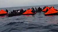 Yunanistan'ın ölüme terk ettiği göçmenler Türk Sahil Güvenliği 'Türkiye' sloganlarıyla karşıladı