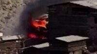 Artvin'de 60 evin küle döndüğü yangının başlama anı