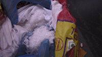 Mersin'de kargoyla gönderilen pirinç torbalarından 13,5 kilogram sentetik uyuşturucu çıktı