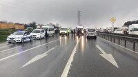 Arnavutköy'de çevik kuvvet polislerini taşıyan minibüs kaza yaptı