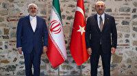 Bakan Çavuşoğlu ile İran Dışişleri Bakanı Zarif Dolmabahçe'de görüşüyor