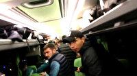 GZT Giresunspor takım otobüsüne yapılan saldırı sonrası yaşanan panik anları