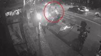 Bakırköy'de motokuryelerin çarpışma anı güvenlik kamerasında