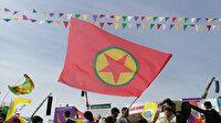 HDP'nin Nevruz organizasyonunda terörist elebaşı Öcalan posterleri ve PKK paçavrası açıldı