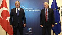 Dışişleri Bakanı Çavuşoğlu, AB Yüksek Temsilcisi Borrell ve Karadağ'lı mevkidaşı ile görüştü