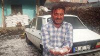 Yozgat'ta yumurta büyüklüğünde yağan dolu vatandaşın kafasını yardı