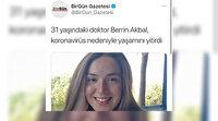 BirGün gazetesi aslında olmayan doktorun 'koronavirüs' nedeniyle öldüğünü duyurdu