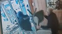 Silahla vurulan kuyumcu, soyguncuları sandalye ile kovaladı