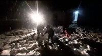 Altı yıl sonra kar yağdı mahalleli sokağa döküldü